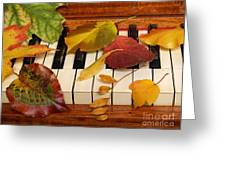 Autumn Leaves Tickle The Ivories Greeting Card