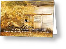 Autumn Light Quote Greeting Card