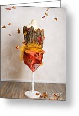 Autumn Mannequin With Falling Leaves Greeting Card