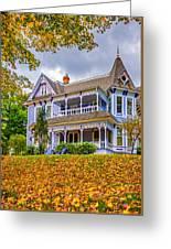 Autumn Mansion Greeting Card
