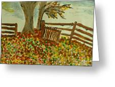 Autumn Greeting Card by Marie Bulger