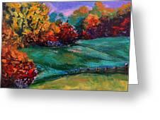 Autumn Meadow Greeting Card