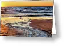 Autumn Merging - Sauble Beach 6 Greeting Card