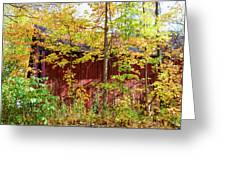 Autumn Michigan Barn  Greeting Card