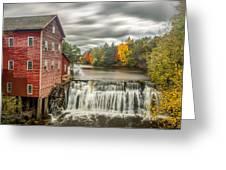 Autumn Mill Greeting Card