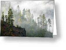 Autumn Mist Greeting Card by Mike  Dawson