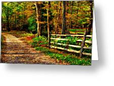 Autumn Moment - Allaire State Park Greeting Card