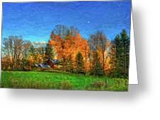 Autumn Moon Rising Greeting Card