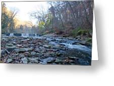 Autumn Morning Along The Wissahickon Creek Greeting Card