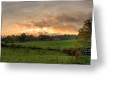 Autumn Morning Greeting Card by David Bishop
