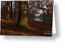 Autumn Morning In Park Branitz Greeting Card