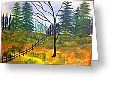 Autumn Morning In The Wild Greeting Card