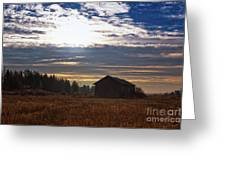 Autumn Morning On The Fields Greeting Card