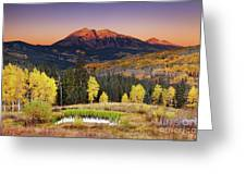 Autumn Mountain Landscape, Colorado, Usa Greeting Card