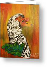 Autumn Muscovy Portrait Greeting Card