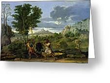 Autumn Greeting Card by Nicolas Poussin