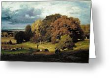 Autumn Oaks , George Inness Greeting Card