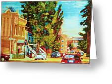 Autumn On Bagg Street Greeting Card