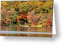 Autumn On Canoe Brook Lake Greeting Card