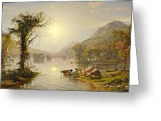 Autumn On Greenwood Lake Greeting Card