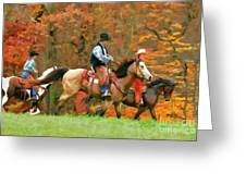 Autumn On Horseback Greeting Card