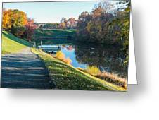 Autumn On Lake Inspiration Greeting Card