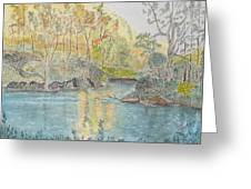 Autumn On The Ausable River Greeting Card