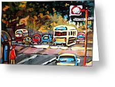 Autumn On The Boulevard Greeting Card