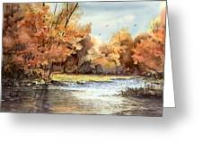 Autumn On The Buffalo Greeting Card