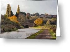 Autumn On The Canal Greeting Card