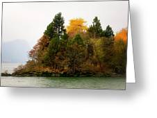Autumn On The Columbia Greeting Card