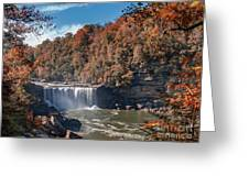 Autumn On The Cumberland  Cumberland Falls Greeting Card