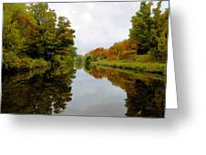 Autumn On The Erie Canal Greeting Card