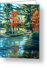 Autumn On The Lake Greeting Card