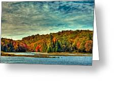Autumn On The Moose River In Thendara Greeting Card