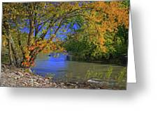 Autumn On The North Raccoon Greeting Card