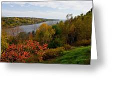 Autumn On The Penobscot Greeting Card