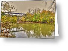Autumn On The Staunton River Greeting Card