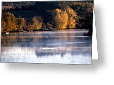 Autumn On Wisconsin River Greeting Card