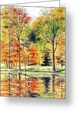 Autumn Oranges Greeting Card