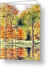 Autumn Oranges Greeting Card