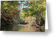 Autumn Over Golden Waters Greeting Card