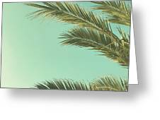 Autumn Palms II Greeting Card