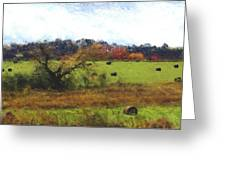 Autumn Pasture Greeting Card
