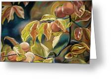 Autumn Peaches Greeting Card