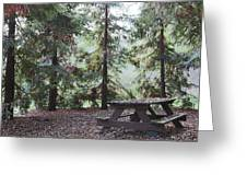 Autumn Picnic In The Woods  Greeting Card