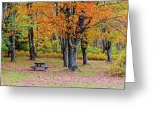Autumn Picnic Greeting Card