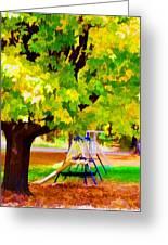 Autumn Playground Greeting Card