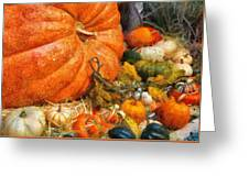 Autumn - Pumpkin - All Of My Relatives Greeting Card