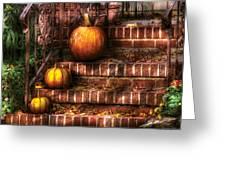 Autumn - Pumpkin - Three Pumpkins Greeting Card